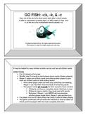 "Go Fish: -ck/-k/-c for Final ""K"" Game- Orton Gillingham Phonics/Reading/Spelling"