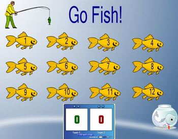 Go Fish customizable smartboard review game