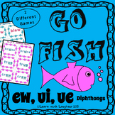 Go Fish - (ew, ue, ui) Diphthongs  (2 different games)