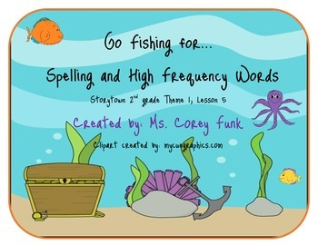 Go Fish for 2nd grade Storytown spelling words and high frequency words