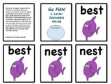 Go Fish for 4-letter decodable words!