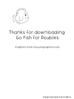 Go Fish for Doubles addition