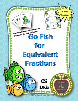 Go Fish for Equivalent Fractions 3.NF.3a