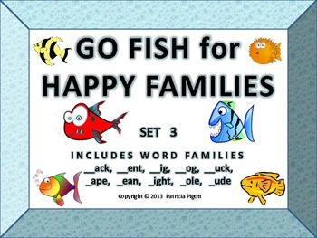 Go Fish for Happy Families - Set 3