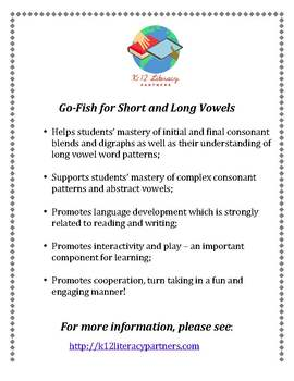 Go Fish for Long and Short Vowels