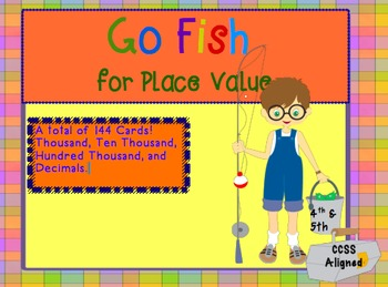"""Go Fish"" for Place Value Upper Elementary Version"