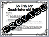 Go Fish for Quadrilaterals Card Game