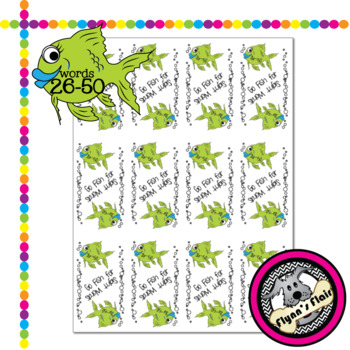 Go Fish for Sight Words Card Game - Words 26-50