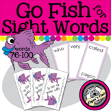 Go Fish for Sight Words Card Game - Words 76-100