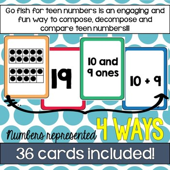 Go Fish for Teens! (Numbers 11 - 19) - Math Dollar Deals
