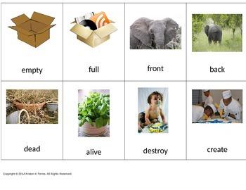 Language Go Fish for antonyms K-1