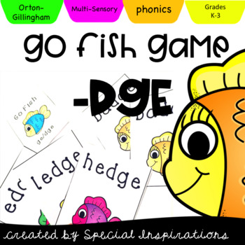 Go Fish -ge/-dge Game