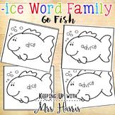 ice Word Family - ice Go Fish!