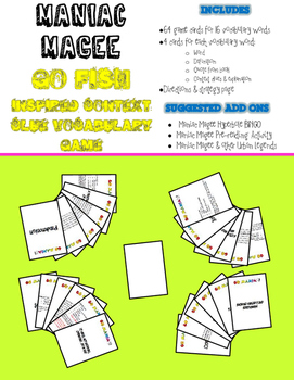 Go Fish-inspired Game for Maniac Magee using Context Clues