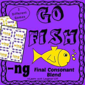 Go Fish -  (-ng) Final Consonant Blend   (2 different games)