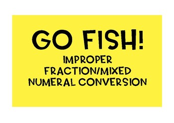 Go Fish! or Match game! {66 cards}