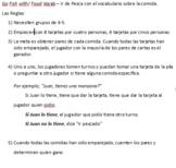 Go Fish with Food Vocab - Ir de Pesca con vocabulario sobr