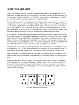 Go Fish Card Game Rules And Target Structures By Bokomaru