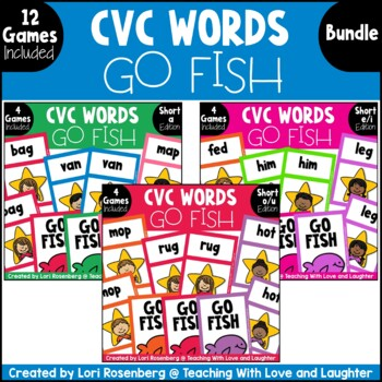 Go Fish...CVC Word Bundle