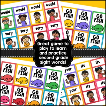 Go Fish...Second Grade Sight Words