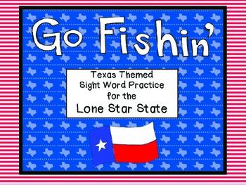 Literacy Center Game - Go Fishin' Texas Theme - Word Work