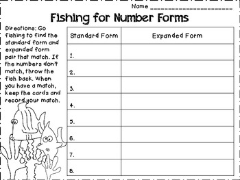 Go Fishin' for Expanded Form