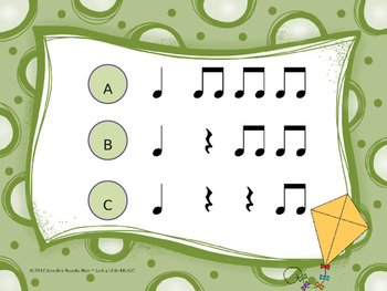 Go Fly a Kite!--Aural Rhythm Recognition Game {ta titi rest}