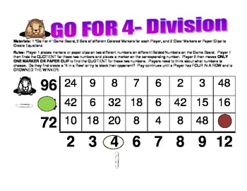 Go For 4- A Division Game