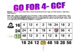 Go For 4- A Greatest Common Factor Game