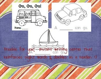 Go, Go, Go! Writing Book/Emergent Reader