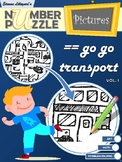 Go Go Transport Number Puzzle Pictures Volume I