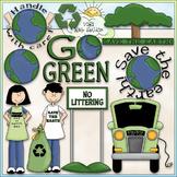 Go Green Clip Art - Earth Day Clip Art - Recycle - CU Clip