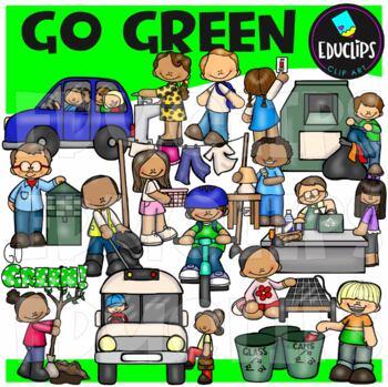 Go Green! Clip Art Bundle {Educlips Clipart}