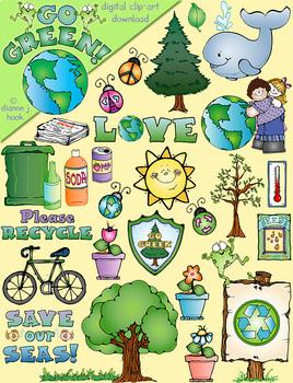Go Green - Conservation Clip Art Download