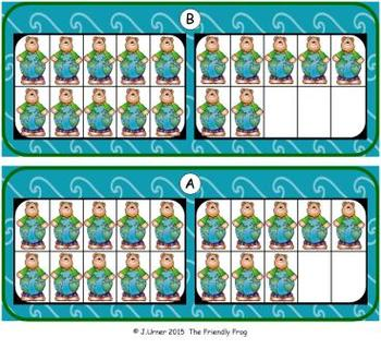 Go Green Count, Add & Subtract Bundle with 10 & 20 Frames {Subitizing}