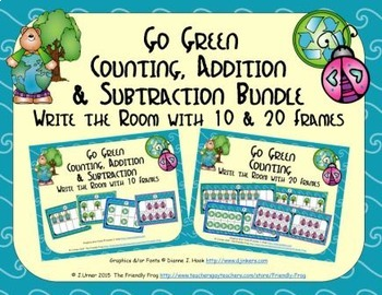 Go Green Count, Add & Subtract Bundle with 10 & 20 Frames