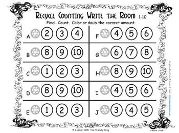Go Green Counting, Addition & Subtraction with Ten Frames {Subitizing}