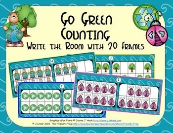 Go Green Counting with 20 Frames {Subitizing}