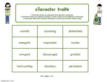Go Green with Character Traits An Earth Day Unit