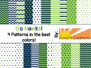 Go Hawks! Digital Paper