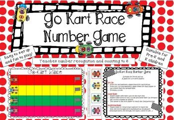 Go Kart Race Number Game *FREEBIE*
