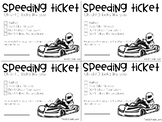 Go Kart Speeding Ticket for Messy Work