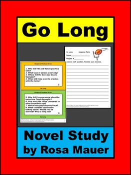 Go Long Football Novel Study