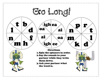 Go Long! - long vowel pattern word spinners