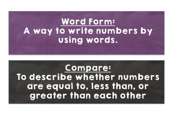 Go MATH Chapter 1 Vocabulary