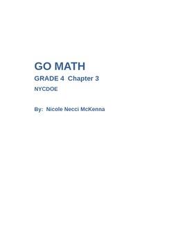 Go MATH Chapter 3 --Fourth Grade