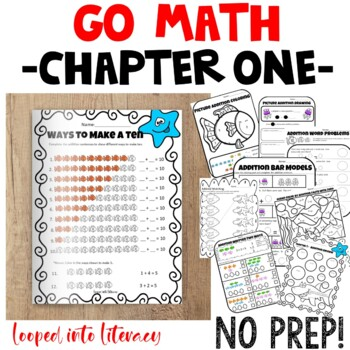 "Go Math 1st Grade ""Addition Concepts"" chapter one 1 FUN Activities NO PREP"