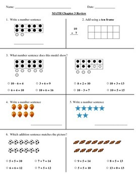 Go Math! 1st Grade Chapter 3 Review