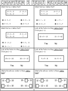 Go Math 1st Grade Chapter 5 Review