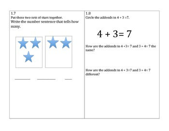 Go Math 1st Grade Chapters 1-3 Problem of the Day Worksheets and Assessment Tool
